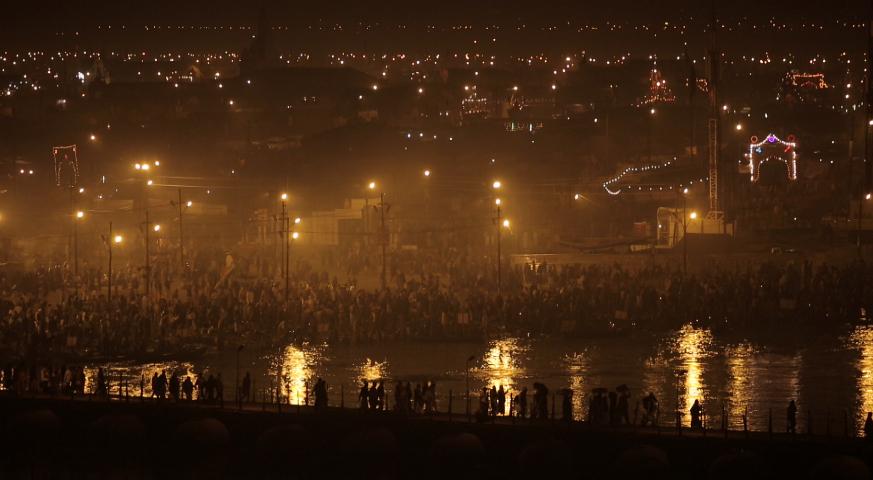 Rund 100 Millionen Menschen feiern alle 12 Jahre für zwei Monate die Kumbh Mela. - Foto: NFP
